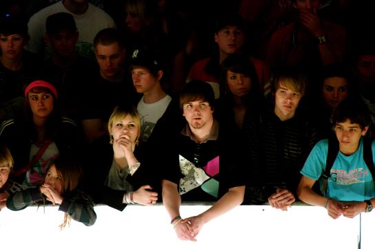 Hat jemand Mikeyboy gesehen? Die gut unterhaltene Crowd!