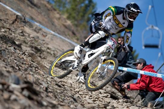 """""""Sick"""" Mick war am Wochenende wirklich krank und hatte mit Magenproblemen zu kämpfen. Trotzdem solider vierter Platz in Andorra und auf Rang drei in der Gesamtwertung.  Wer hätte das zu Beginn der Saison gedacht? (Anm.d.Red.: LeSchieck hat es immer gewusst!) Pic: Sebastian Schieck"""