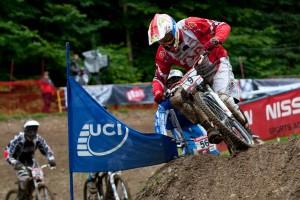 Joost Wichmann kann nach seinem Erfolg in Andorra auch hier in Maribor den Sieg nach Hause holen und scheint derzeit der einzige zu sein, der Jared Graves ernsthaft gefährlich werden kann. Pic: Sebastian Schieck