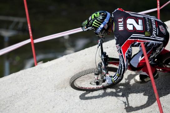 Sam Hill ist hungrig! Zurecht nach dem 31. Platz in Andorra, denn schließlich geht es um wertvolle Punkte! Pic: Sebastian Schieck