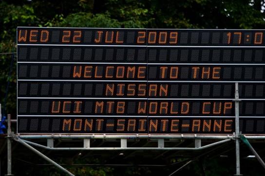 Herzlich Willkommen in Mont-Sainte-Anne. Pic: Sebastian Schieck