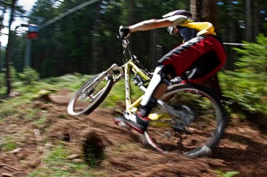 Wir hatten wirklich viel Spaß auf den Trails mit dem Bike. Pic: Sebastian Schieck