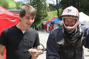 Tillmann & Tristan beim Race in der Schweiz