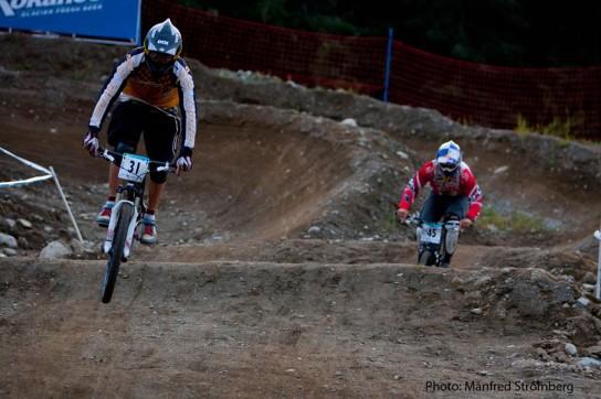 Fischbach im kleinen Finale gegen Michael Marosi. Pic: Manfred Stromberg