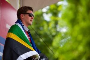Der letztjährige Sieger in Canberra Greg Minnaar. Holt er sich dieses Jahr den WM-Titel? Pic: Sebastian Schieck