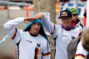 Leider nicht ganz so erfolgreich aber trotzdem bei den ziemlich einzigartigen Weltmeisterschaften in Canberra am Start gewesen. Johannes Fischbach und Guido Tschugg. Pic: Sebastian Schieck