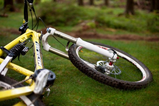 Das AFR Testrad hatte ein ziemlich perfektes Set-Up mit Totem und Hammerschmitt. Pic: Sebastian Schieck