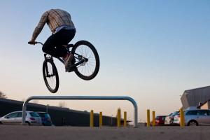 180° over. Rider Carlo Dieckmann, Pic: Sebastian Schieck
