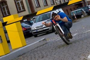 """Das schöne beim sogenannten """"streeten"""", es ist alles erlaubt und Kreativität gefragt! Rider Sebastian Schieck, Pic Carlo Dieckmann"""