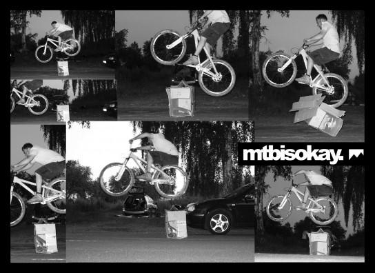 Sebastian auf einem geliehenen Bike mit dem richtigen Pop in den Beinen.