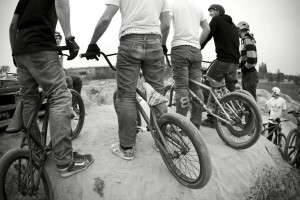 Die Berliner Bmx Bande war auch da. Trails United! Photocredit: Sebastian Schieck